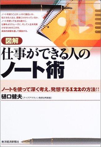 (書影:図解 仕事ができる人のノート術 - ノートを使って深く考え、発想する122の方法!!)