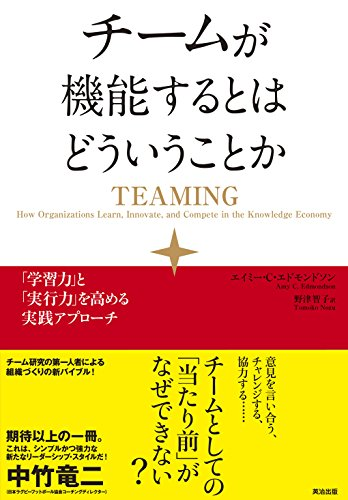 (書影:チームが機能するとはどういうことか――「学習力」と「実行力」を高める実践アプローチ)